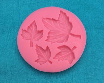 Maple Leaves Silicone Mold with 4 Different Leaves