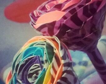 Zebra Print  Rose Pens