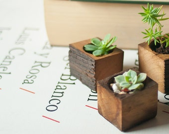 Succulent planter - Planter box - Small wooden planter - Wooden succulent planter - Wedding gift - Reclaimed wood