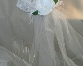 SYDNEY Lace Juliet Cap with Veil