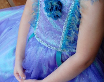 "Periwinkle ""Lilac"" Princess Dress, Flower Girl Dress, Dress Up Costume"
