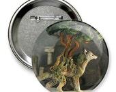 Big artistic button badge fantasy art print
