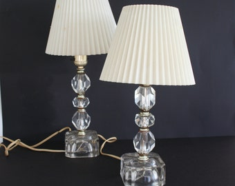 Clear Glass Lamp Etsy - Clear glass table lamps for bedroom