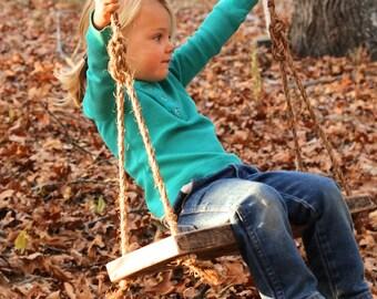 Wood Tree Swing - Tree swing - Childrens swing