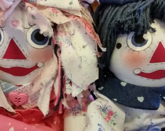 """15"""" Raggedy Ann and Andy Dolls Pricing is for each doll"""