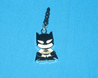 Batman Cell Phone Dust Plug Charm Attached