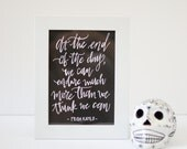 Frida Kahlo Quote Print - Art Print on Handcrafted Paper - Home Decor - Frida Art - We Can Endure