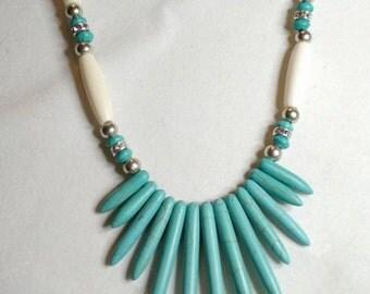 Bone & Turquoise Necklace