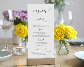 Wedding Menu template, Printable Menu - DIY Custom Wedding Decoration
