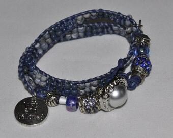 SALE! Double Wrap Bracelet Blue #408