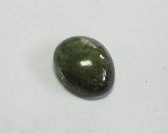 Natural Green Tourmaline cabochon 15x12x5mm 9.25ct