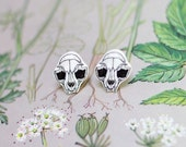 SALE // Cat Skull Earrings