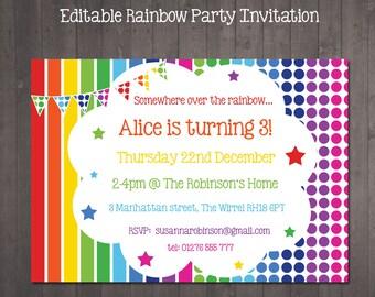 editable party invitations