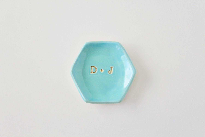 Monogram Ring Dish - Mint