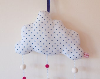 Spotty Hanging Cloud Mobile