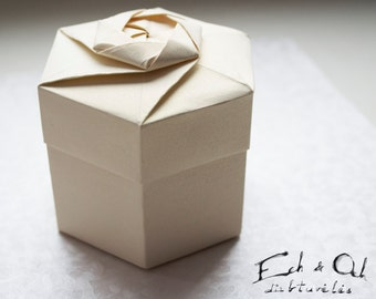 Origami Boxes, Party Favor Boxes, Ivory Candy Boxes, Cookie Boxes, Wedding Favor Boxes, Gift Boxes with jars