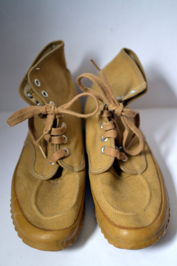 vintage l l bean canvas maine hiking shoes sneakers hi