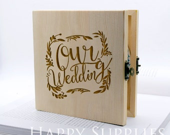 Custom CD Box, Personalised Wooden DVD Case - Wedding CD Music Video Wedding Photographs (CD01)