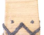 Moroccan Grey Wool Pom pom Blanket