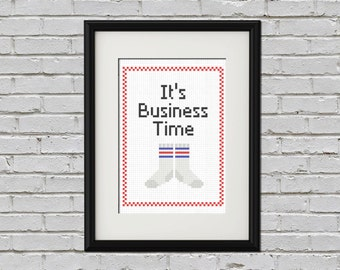 Business time - Flight of the Conchords cross stitch PDF pattern