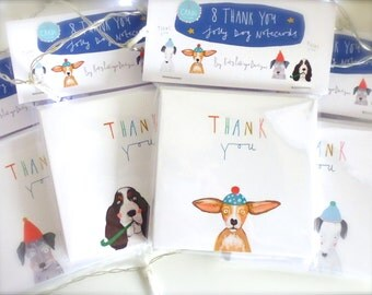 Pack of 8 Dog Thank You cards