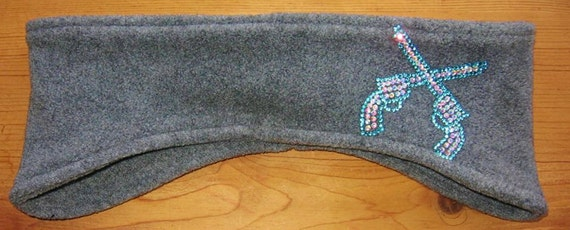 Crossed Pistol, Fleece, Headband, Ear Warmer, Winter Wear, Womens Accessories, Skiing