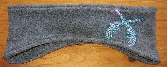 Crossed Pistol, Fleece, Headband, Ear Warmer, Winter Wear, Womens Accessories, Skiing