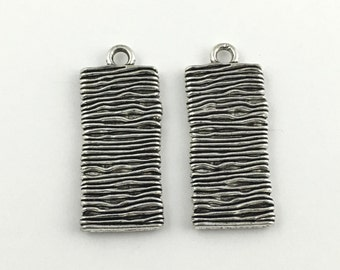 2 abstract pendants antique silver 40mm # CH 192