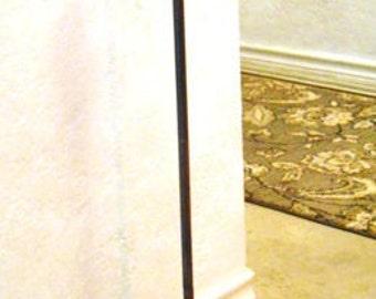 "Cast Iron Doorstop French Fleur De Lis Adjustable  with Handle 26"" tall"