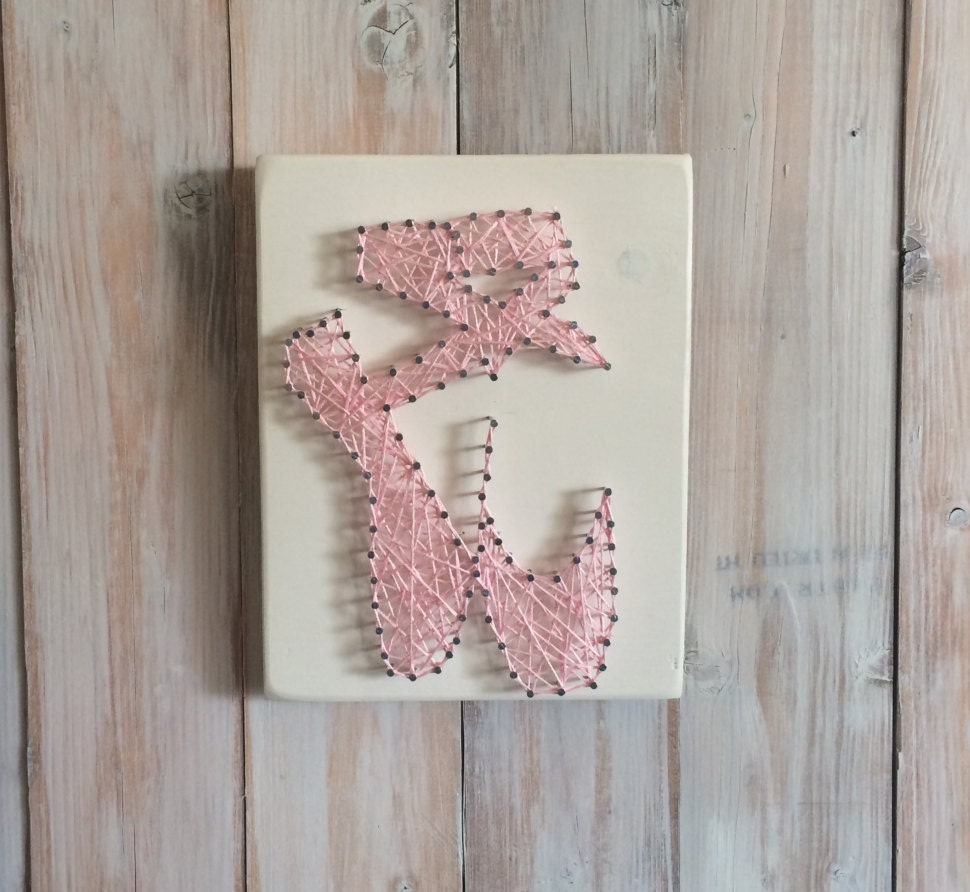 Gifts for dancer ballerina string art tiny dancer ballet for Ballet shoes decoration