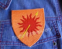 Game of Thrones styled sigil - House Martell iron-on patch/badge