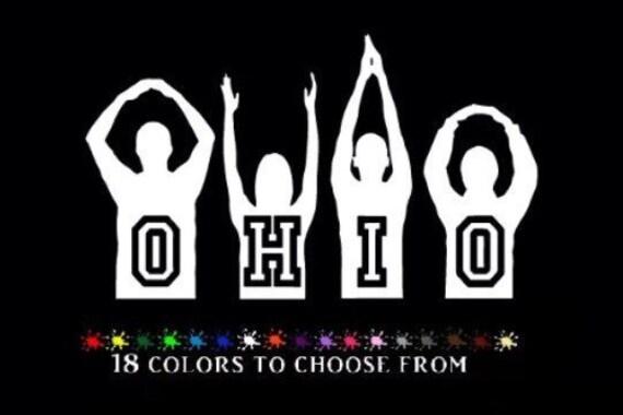 O H I O Osu Silhouette Vinyl 6 Car Decal Sticker Ohio