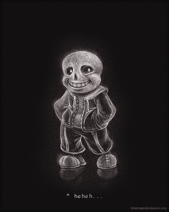 Sans 8 x 10 imprimer undertale dessin sombre art - Dessin sombre ...