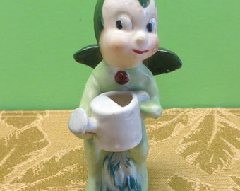 Adorable 1950's Fairy Garden Elf Pixie Gnome Made In Japan Figurine - Free Shipping