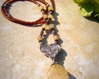 Nina. beautiful handmade bohemian necklace.