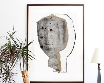 Oversized Wall Art, Extra Large Print, Poster Size Artwork, Big Drawing, Modern Home Decor, 27 x 39