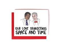 Cute Nerdy Science Card, Funny Valentine's Day Card, Romantic Card, Neil DeGrasse Tyson, Bill Nye The Science Guy, Geeky Card, Nerdy Card,