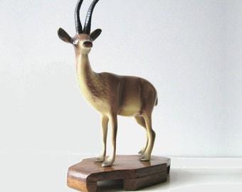 """Vintage Kitsch Deer Figurine - 10"""""""