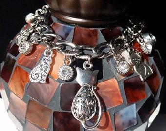 Stainless Steel Kitty Charm Bracelet