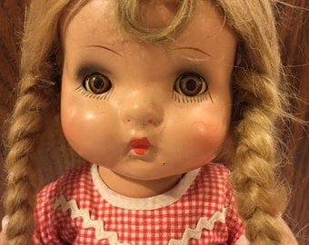 """Sweetest Composition little girl doll/14"""" tall"""