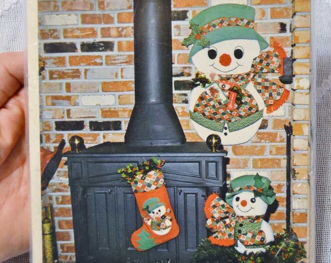 Holly Jolly Snowmen by Gingham Goose Applique Sewing Vintage Pattern PanchosPorch