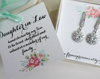 Daughter in Law Gift, Gift Boxed Jewelry, Daughter in Law jewelry, Daughter in Law Earrings, Thank You Gift, Gift boxed jewelry