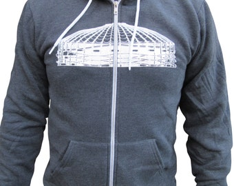 Seattle Kingdome mens hoodie. Kingdome sweatshirt. American Apparel.