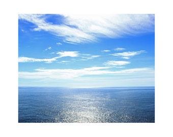 Seascape Art, Minimalist Decor, Ocean Art, Water Photography, Blue Wall Art, Minimalist Photography, Zen Art, Sea Artwork