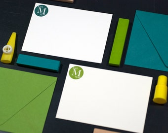 Personalized Letterpress Stationery   Custom Monogram Stationery   Modern Monogram Stationery   Letterpress Correspondence Card