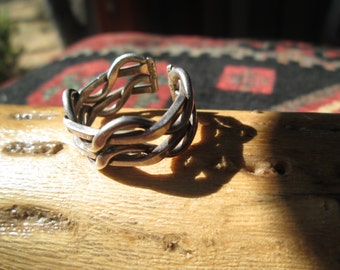 Sterling Silver Twisted Twigs Ring Size 10 +