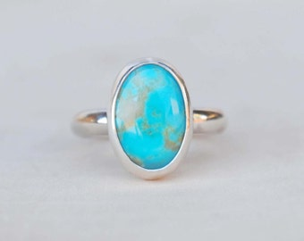 Turquoise Ring Sterling Silver - Silver Turquoise Ring - Turquoise Jewelry