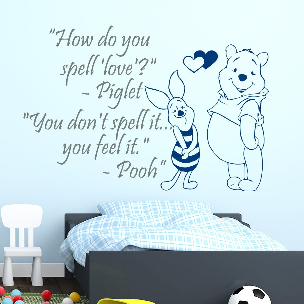 Winnie The Pooh Wall Quotes: Wall Decals Winnie The Pooh Quotes How Do You Spell By