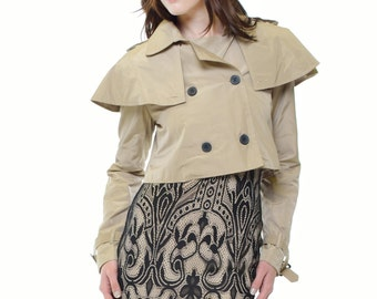 Brit Cropped Trench Coat