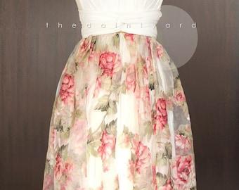 Floral Organza Overlay Skirt for Convertible Dress / Infinity Dress / Wrap Dress / Octopus Dress